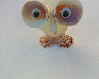 Owl made out of shells