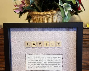 Scrabble Tile Family Gray
