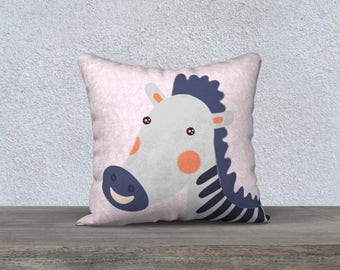 "Decorative pillow cover for children ""Zebra"" pillowcase pillow gift, baby-child decor cushion Zebra animal themed room"