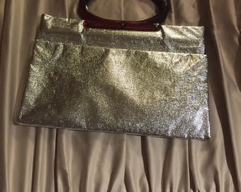 Silver Tote/ Hand Bag/Clutch Bag