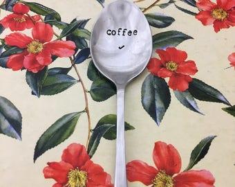 """KLASYCZNA łyżeczka z wiadomością """"Coffee"""", słodkie sentencje, spersonalizowany tekst na łyżeczce"""