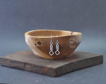Byzantine & Square Earrings