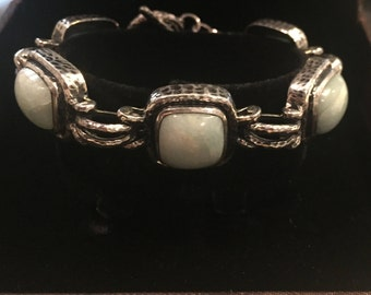 Silver Bracelets with colored stones