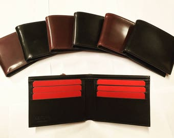 Wallet in Shell Cordovan leather