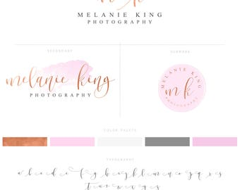 Rose Gold Premade Logo and Watermark, Rose Gold Photography logo, Rose Gold Branding 014