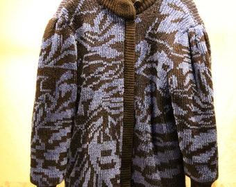 Vintage Sweater Coat - Warm - Sz M/L