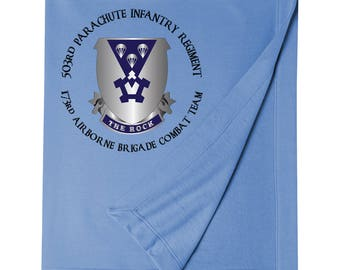 "503rd Parachute Infantry Regiment ""The Rock"" Embroidered Blanket-6288"