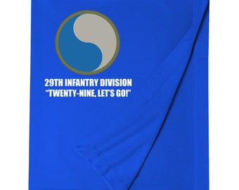 29th Infantry Division Embroidered Blanket-7593