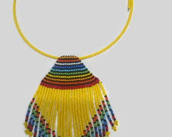 African Maasai Beaded Necklace | African Jewelry | Tribal choker Necklace | One size fits all | Multiple color Necklace  | Gift for Her
