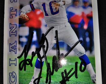 Kent Graham Autographed football card Mint Condition