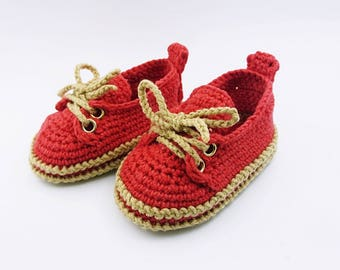 Crochet baby shoes Baby sneakers Baby booties Gender neutral baby, New baby, Crochet baby boy, Newborn, 0-3 months, Newborn baby,