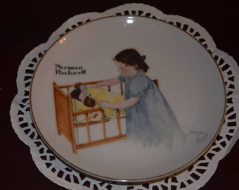 Norman Rockwell Collector Plate Sleep Tight