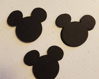 Mickey Mouse Die Cuts 1.5 x 1.5  Set of 48