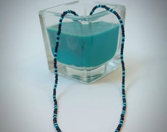 Turquoise and Black Choker Necklace