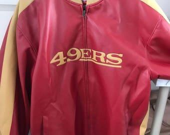 Vintage NFL San Francisco 49ers Faux Leather Jacket
