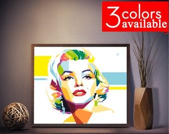 Marilyn Monroe Print, Marilyn Monroe Art, Marilyn Monroe Poster, Marilyn Monroe Gift