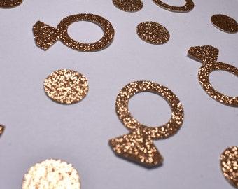 Copper Diamond Ring & Circles Confetti
