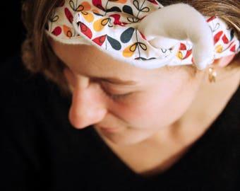 Handmade fleece headband * flower *.