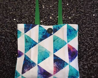 Triangle Canvas Tote Bag