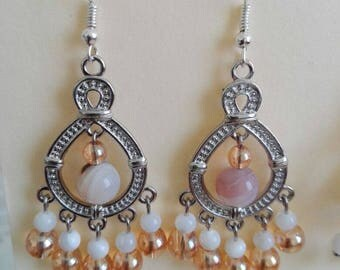 Glass and Mother of Pearl Earrings