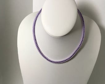 "Handmade Seed Beads Necklace, "" Lilac Dream""/ Ручная  Работа, Жгут из Бисера ""Сереневая Мечта"""