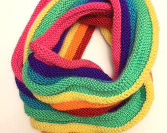 Rainbow Infinity Scarf