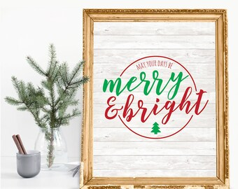 Merry & Bright Holiday Print