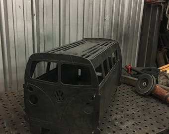 "30"" VW bus firepit grill fire pit"
