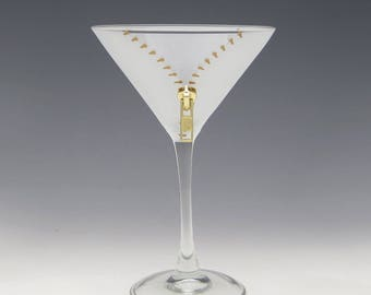 XYZ Zipper Martini Glass - A slightly naughty but way fun way to enjoy your cocktail!