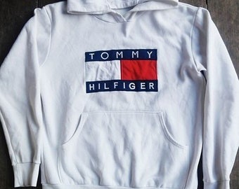 Vintage 90's Tommy Hilfiger BIG FLAG