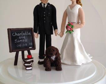 Bride and Groom Handmade Personalised Wedding Topper