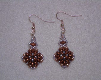 Seed Bead Diamond Shape Earrings