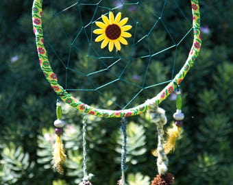 Dream Catcher of Sunflowers and Nature