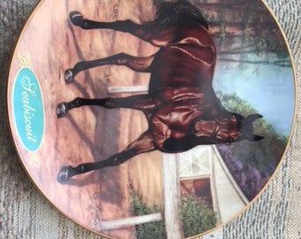 porcelain racehorse plate