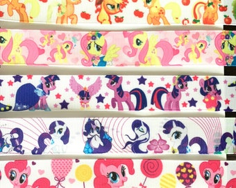 "My Little Pony 7/8"" 22 mm Grosgrain Ribbon for Hair Bows Scrapbooking Crafts Party Cake Birthday Decoration"