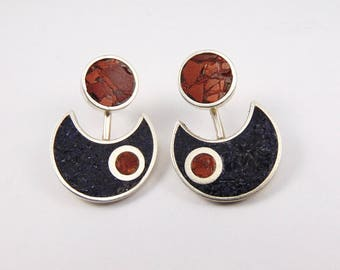 925 Sterling Silver Two Way Earring Jackets- BR53BG