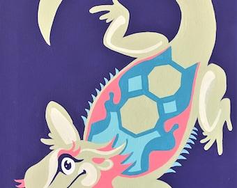 Luminous Lizard Animal Pinup Art Print