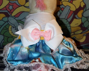 Handmade fairy fancy small dog dress