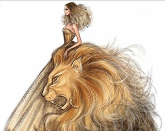 Diamond Paintings of Lions And Maidens Square Diamond Embroidery Kits Pictures of Crystals Home Deocr