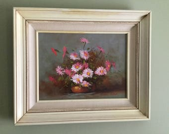 ORIGINAL ROBERT COX painting 1980 flowers
