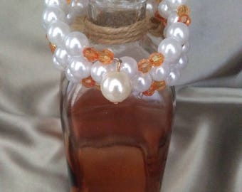 Pearl Orange Wrap Bracelet