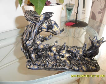 Fantasy creature sculpture