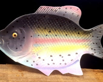 Vintage Ceramic Rainbow Trout Dish
