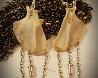 Earrings shoulderblades marten *goth*pirate*gothic*bones*