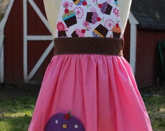 cupcakes  girls apron