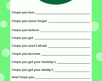 Wishes for Baby Card - Twins - Green B