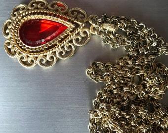 1973 Vintage Avon Necklace, Granada Pendant