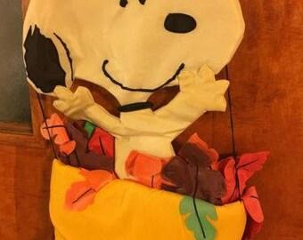 Peanuts Snoopy Charles Schultz Fall Door Hanger
