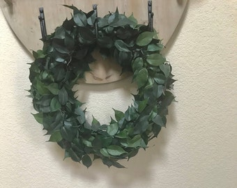 Farmhouse Faux Greenary Wreath