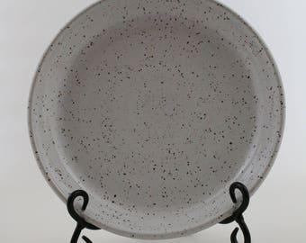 White Speckled Stoneware Platter